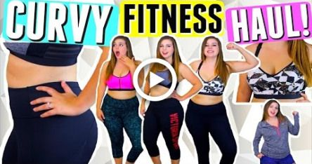 CURVY BODY WORKOUT CLOTHES TRY ON HAUL! FITNESS HAUL + LULULEMON LEGGINGS TRY ON! CURVY GIRL FASHION...