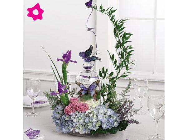 Centro de mesa para boda con mariposas Centros de mesa Pinterest