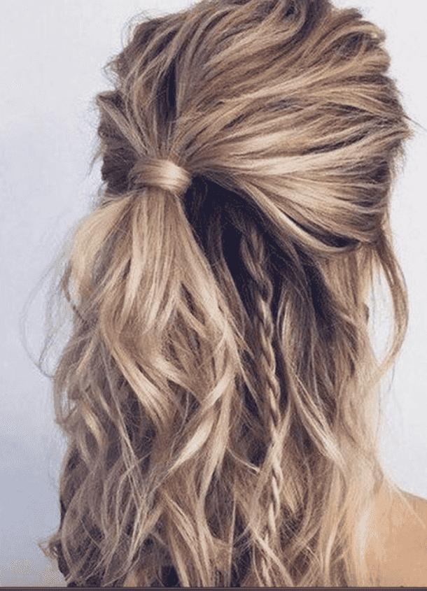 35 Best Half Up Bun Hairstyles That Don T Look Messy Messy Hairstyles Thick Hair Styles Bun Hairstyles