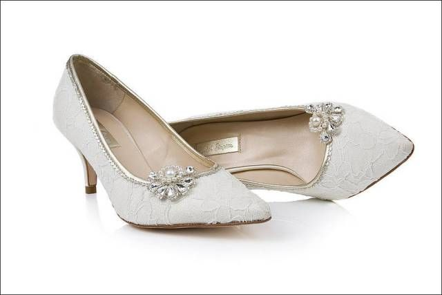 35 Beautiful Low Heel Wedding Shoes