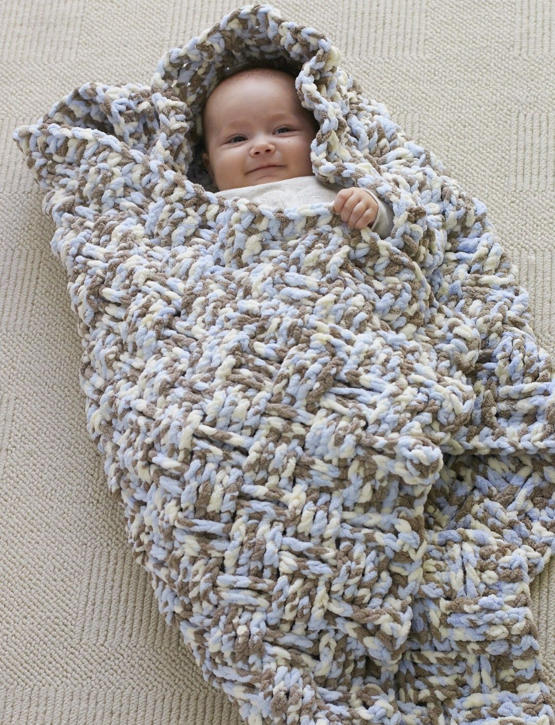 Yarnspirations Bernat Dream Weaver Blanket Free Pattern