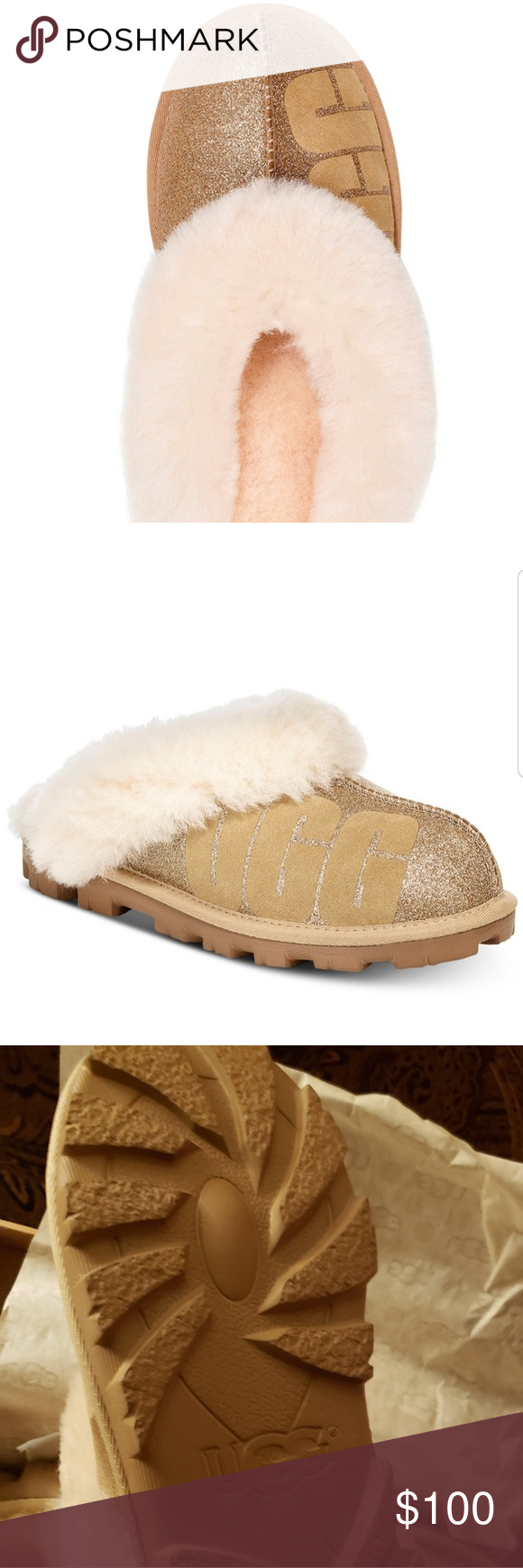 ce655858aa4 Ugg Coquette sparkle slippers. Size 7 Beautiful and authentic. Ugg ...
