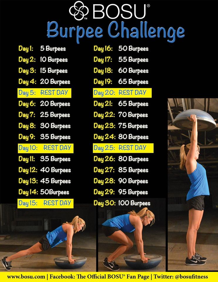 Are you up for the challenge? #30DayChallenge #BOSU Complete reps ...