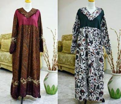 Model Baju Gamis Batik Wanita Gemuk Model Baju Muslim Model