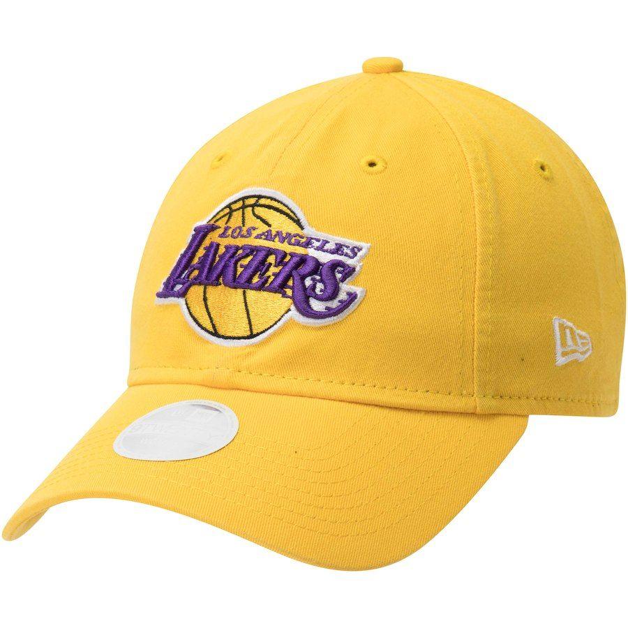 Women s Los Angeles Lakers New Era Gold Team Core Classic 9TWENTY  Adjustable Hat 471d8304bb
