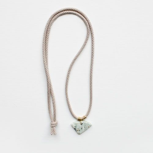 braided cord & marble necklace ++ the vamoose