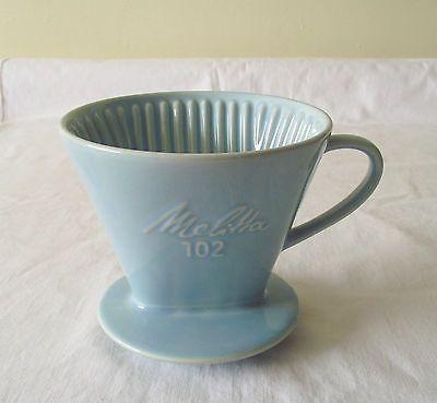 Vintage Retro Melitta 102 Coffee Filter Holder Blue