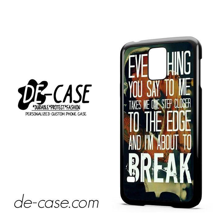 Linkin Park Lyrics DEAL-6533 Samsung Phonecase Cover For Samsung Galaxy S5 / S5 Mini