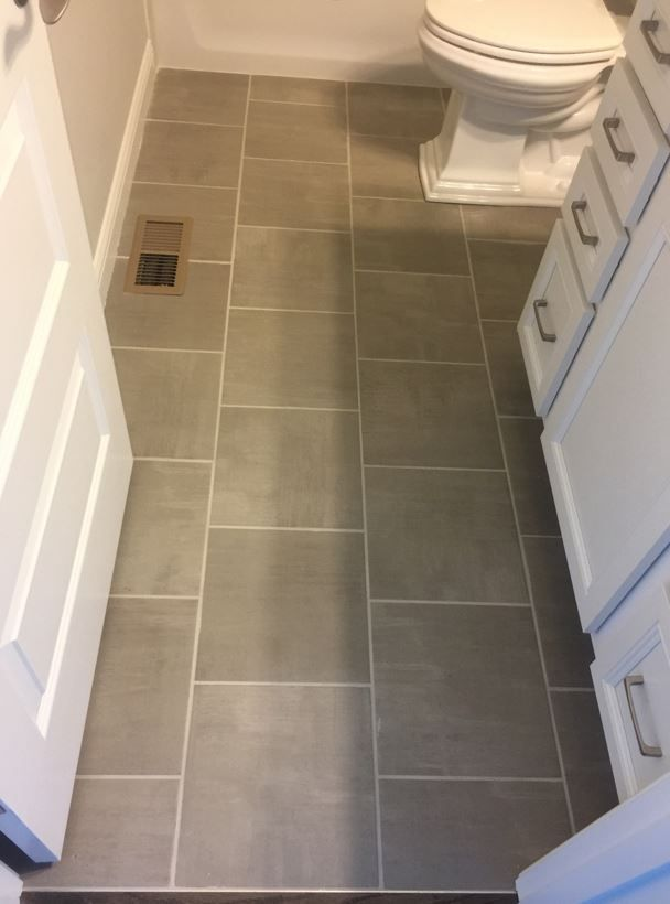 Skybridge Gray 12x12 Floor Tile Installed Brick Joint Tile Floor Gray Tile Bathroom Floor Flooring