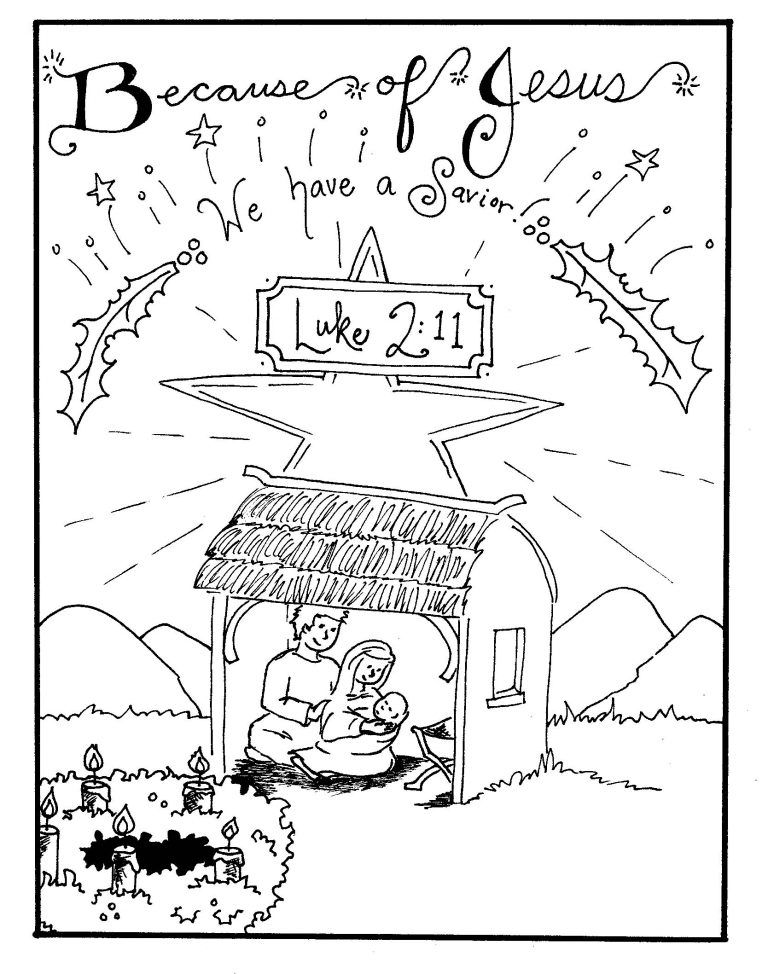 Free Printable Nativity Coloring Pages for Kids Nativity