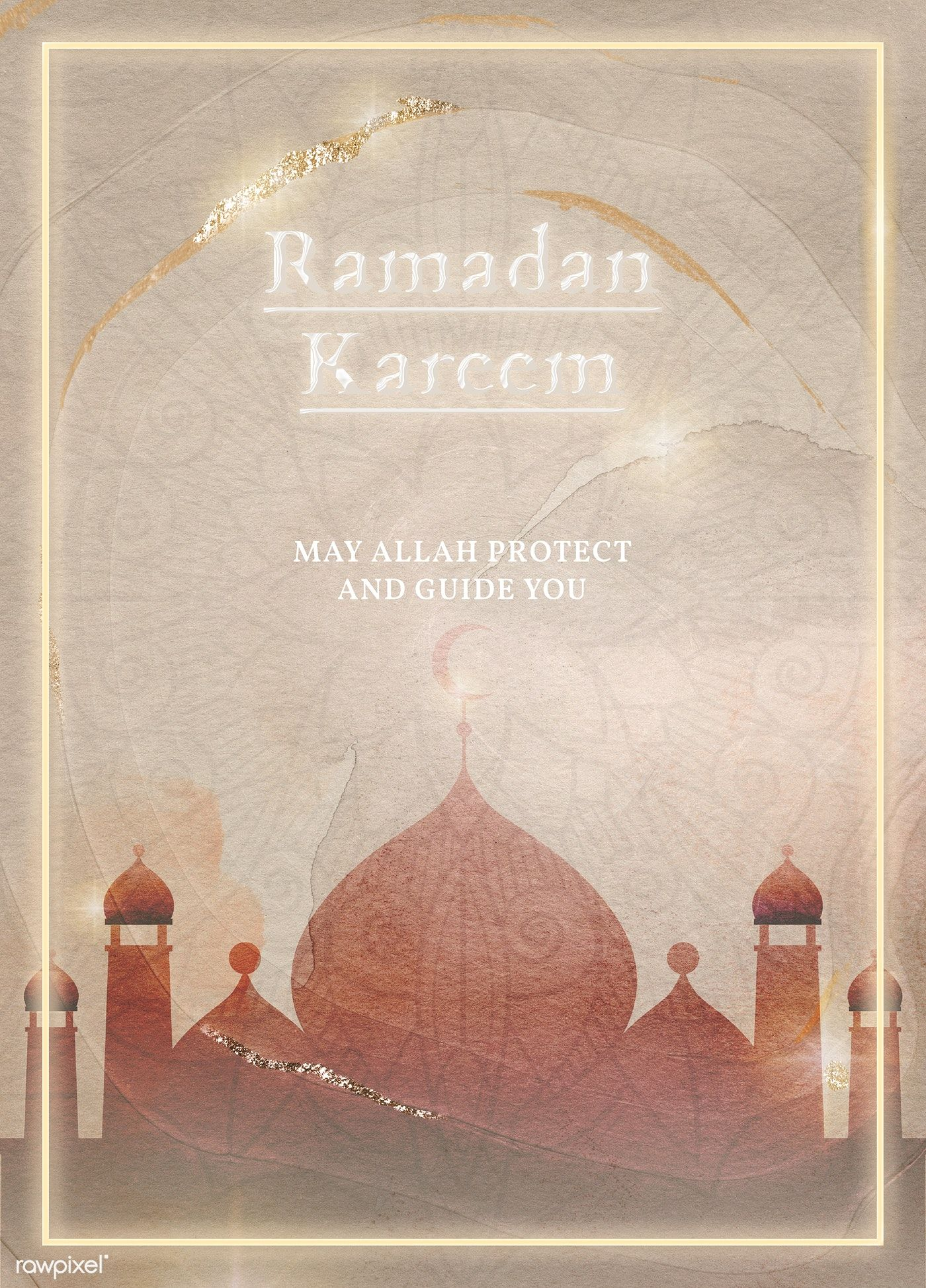 Download Premium Illustration Of Blessing For Ramadan Card Template 2262132 Ramadan Ramadan Cards Ramadan Background
