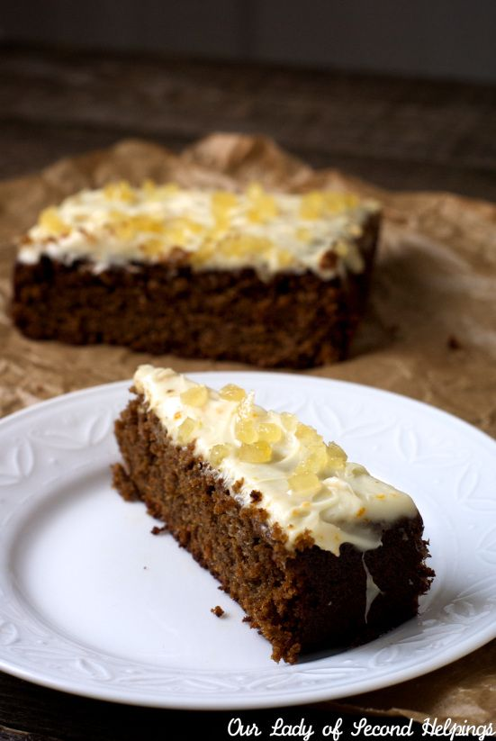 Gingerbread with Light Cream Cheese Frosting #christmas #holiday #cake