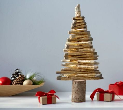 Elegant Driftwood Christmas Trees | Shopping Guide. Gold Painted Driftwood Trees,  Rustic Trees, Cone