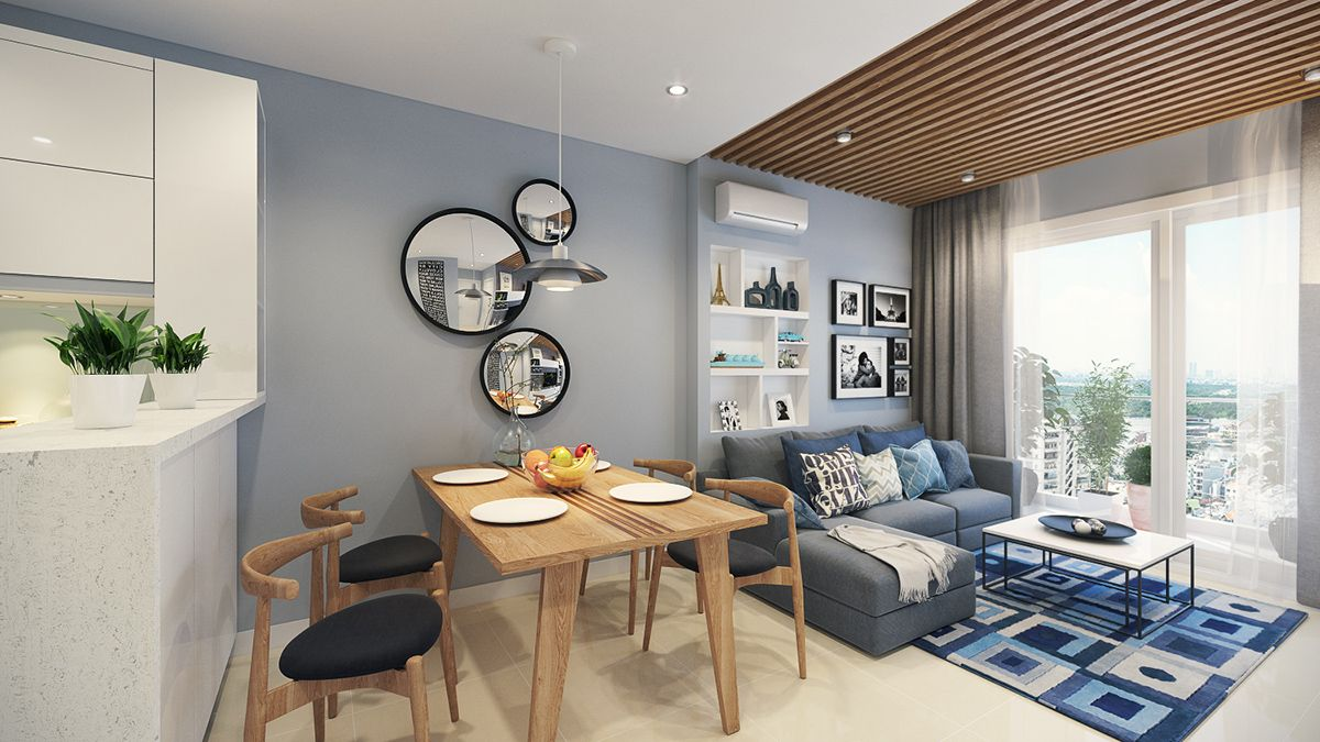 Open Plan Kitchen Living Room Small Apartment New Image House Mebel