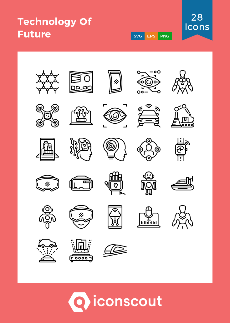 Download Technology Of Future Icon Pack Available In Svg Png Eps Ai Icon Fonts Icon Icon Pack Icon Font