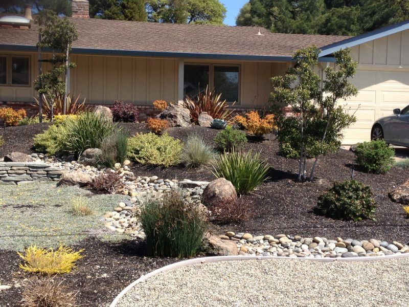 front yards xeriscape gardens front yard frontyard. Black Bedroom Furniture Sets. Home Design Ideas
