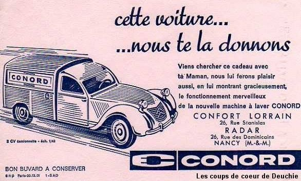 2cv Publicitaire Conord 1 43 Citroen Citroen 2cv Pub