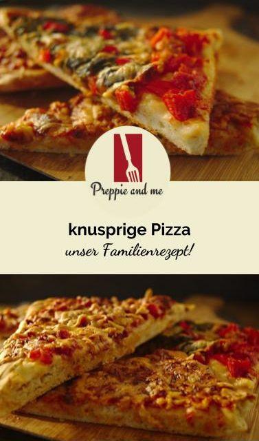 knusprige Pizza, unser Familienrezept!
