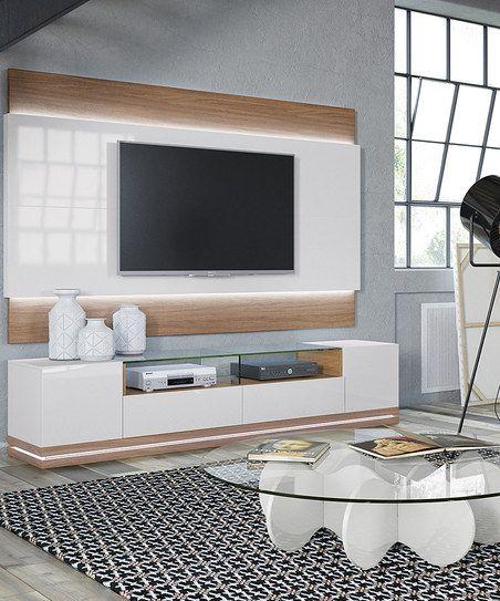 manhattan comfort maple cream vanderbilt tv stand lincoln led floating tv panel zulily tv. Black Bedroom Furniture Sets. Home Design Ideas