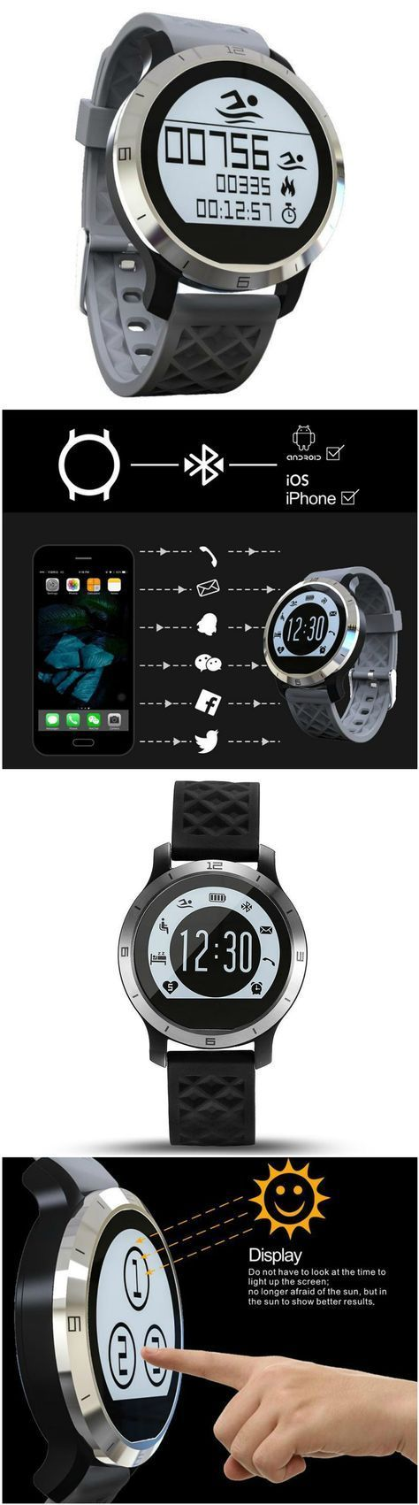 New Bluetooth Smart Watch Wristwatch for Android IOS Wearable Device Heart Rate Monitor Smartwatch F...