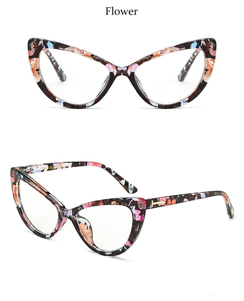 Photo of Reboto Damenbrille Transparent Klar Mode Katzenauge Brillengestell Klare Linse Brillengestell Für Frauen Optische Brillengestell