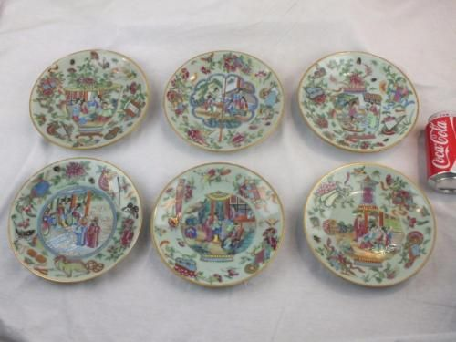 SIX 19TH C CHINESE PORCELAIN CANTON FAMILLE ROSE OBJECTS CELADON PLATES - MARKED https://t.co/5UBcSOvkjy https://t.co/CJSrWbDaUP