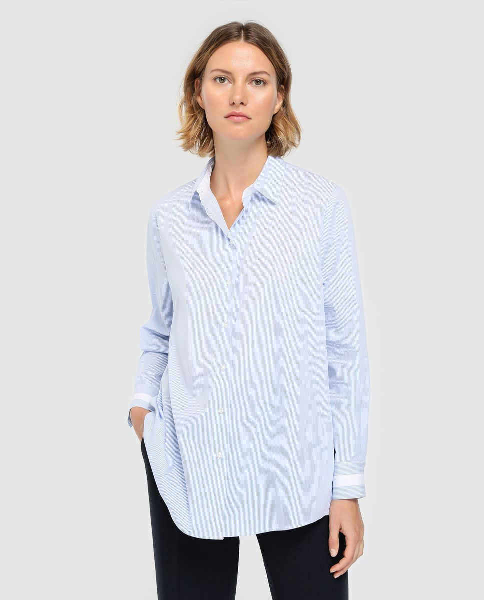 32e5d2234 Blusa de mulher Woman Limited El Corte Inglés com mil riscas azul · Moda e  Acessórios