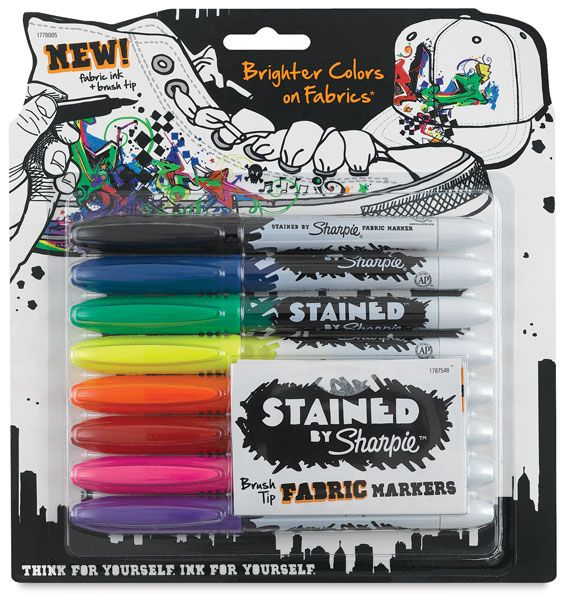 Stained Fabric Markers from Sharpie
