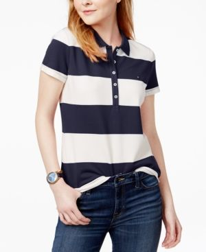 ba122da1 Tommy Hilfiger Striped Pique Polo Shirt in 2019 | Products | Polo ...
