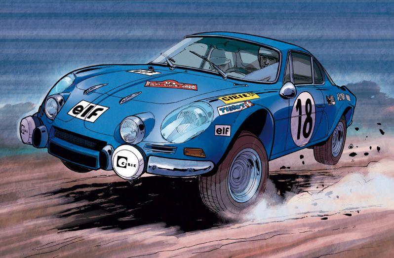 Papazoglakis paquet bernard alpine a110 car art - Dessin de aloine ...