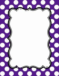 picture relating to Free Printable Bulletin Board Borders Template named Free of charge polka dot border clipart Polka Dot Borders Border
