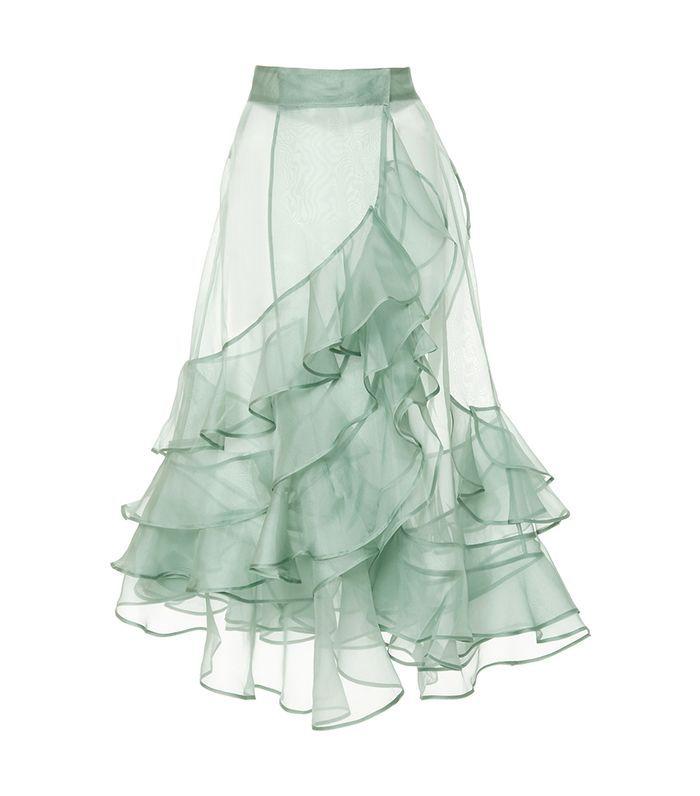 Johanna Ortiz M'O Exclusive Mar Dulce Silk Organza Skirt
