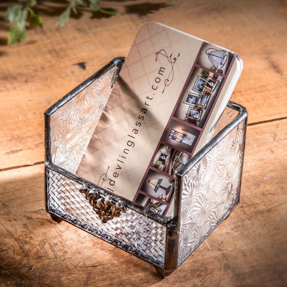 Give this unique vertical business card holder as a gift or draw ...