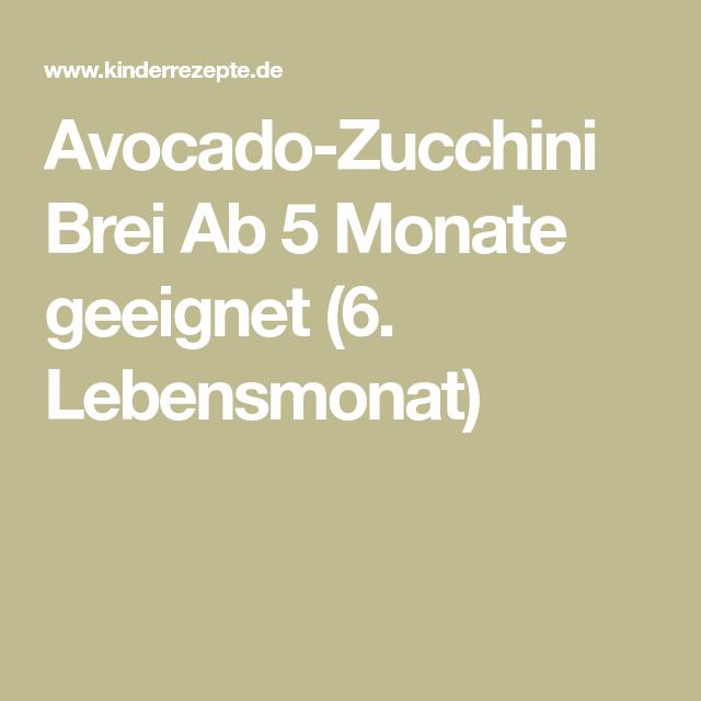 Avocado Zucchini Brei Rezept Avocado Paleo Vegan Zucchini