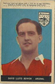 56. David Lloyd (Dave) Bowen Arsenal