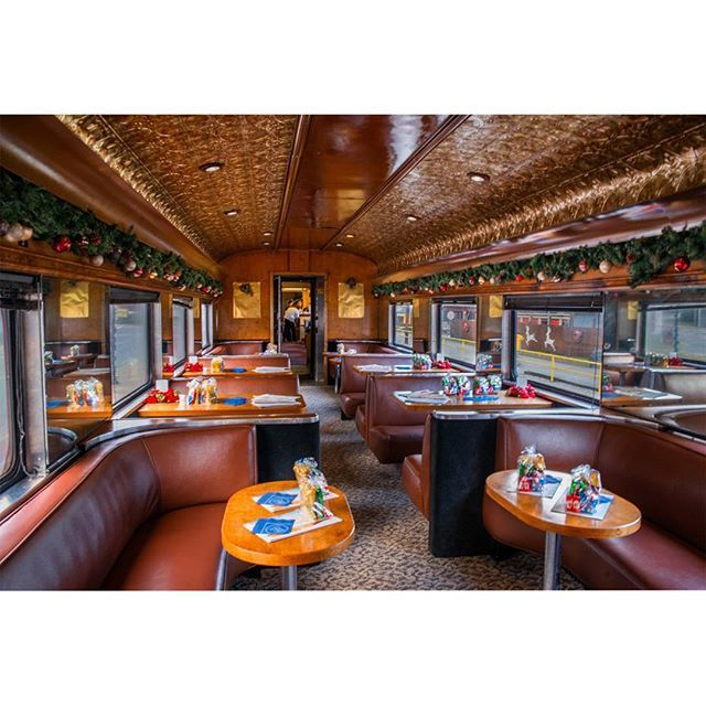 Bryson City North Carolina On Instagram Inside The First Class Section Of The Polar Express Great Smoky Mountain Bryson City Mountain Travel Bryson City Nc