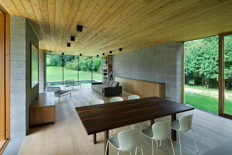 interieur maison bois   idées maisons container   Pinterest ...