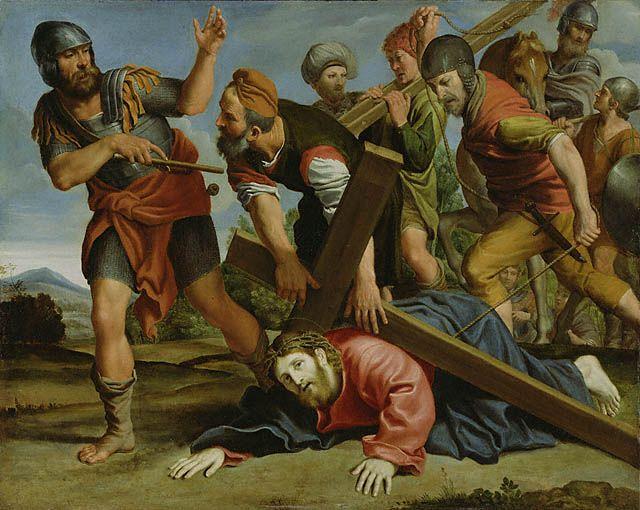 one of my favorite paintings.. Way to Calvary by Domenichino; Italian, around 1610