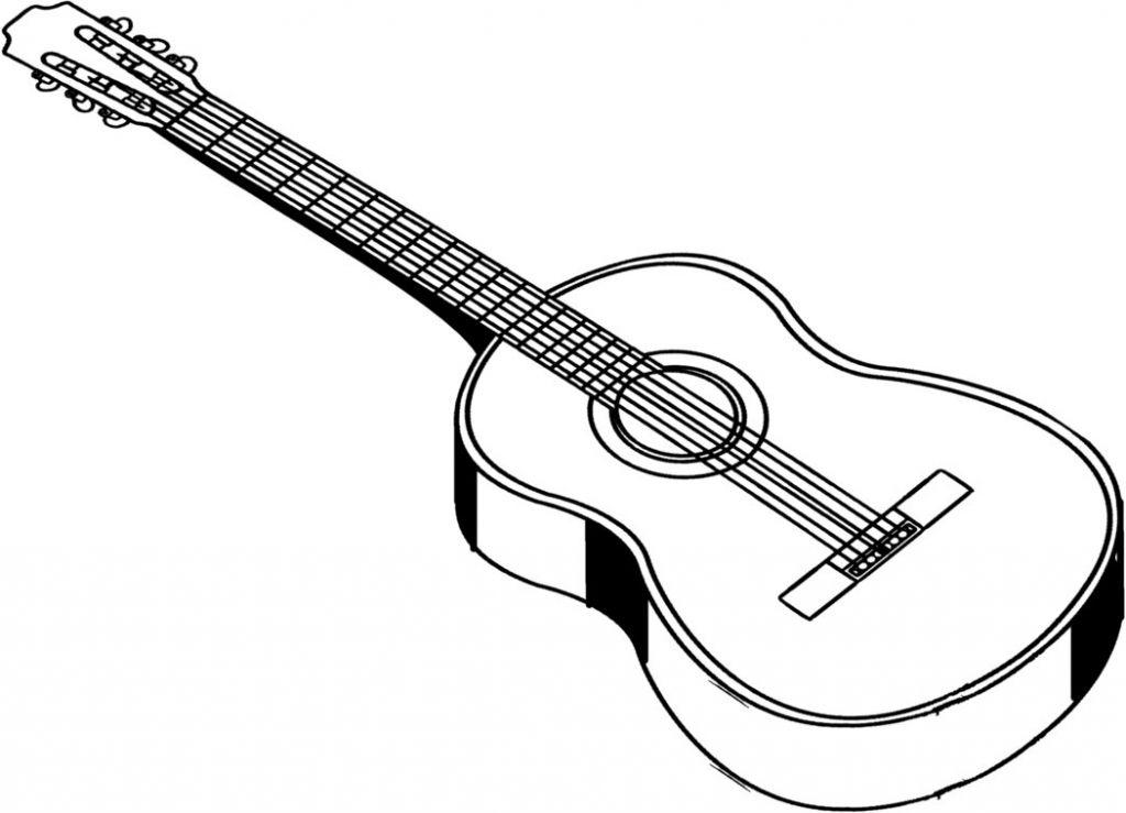 Acoustic Guitar Drawing Drawing Art Gallery Clipart Best Clipart Best Guitar Guitar Drawing Acoustic Guitar Case
