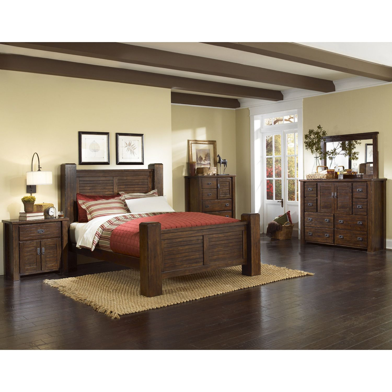 Beau Progressive Furniture Inc. Trestlewood Panel Customizable Bedroom Set