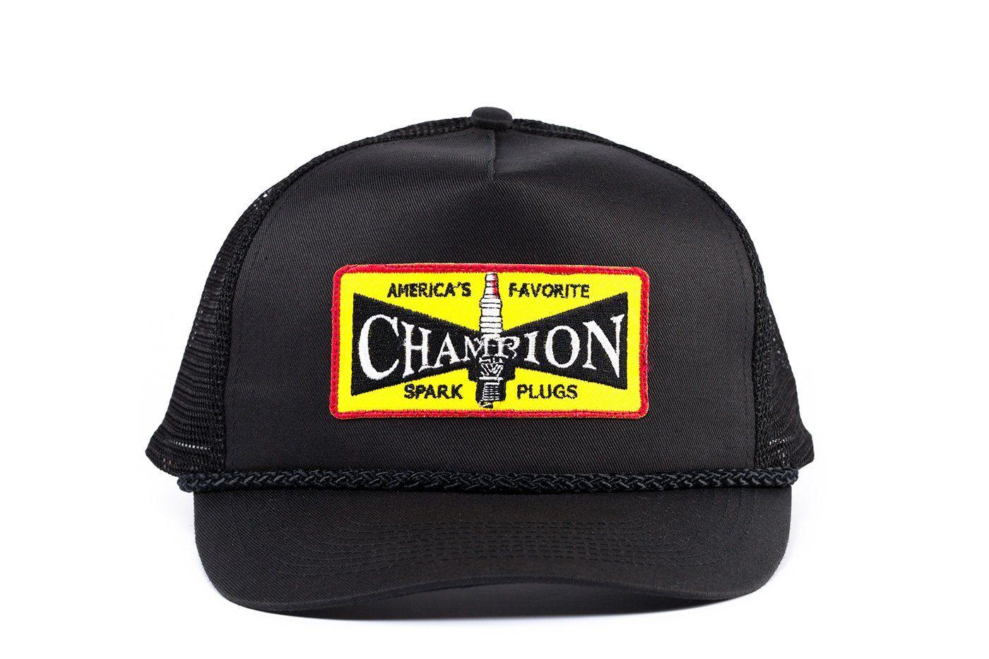 cd82573f2e Vintage Champion Spark Plugs Racing Hat
