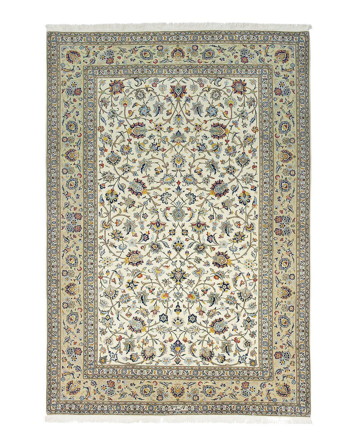 Solo Rugs Kashan Candace Hand Knotted Area Rug 6 9 X 10 0