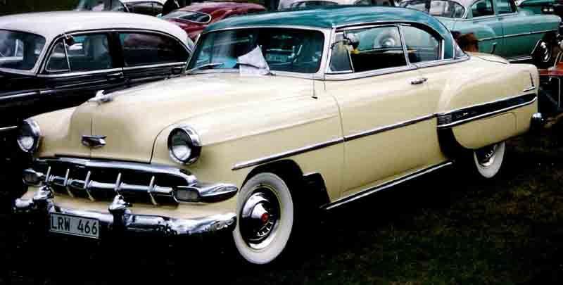 1954 Chevrolet Bel Air 2 Door Ht Lrw466 Chevrolet Bel Air