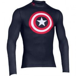 Kompresné tričko Under Armour® Alter Ego Captain America 2.0 Evo Mock 161f3dfbd95