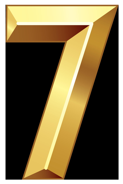 Gold Number Seven Png Clipart Image Clip Art Gold Number Bubbles Wallpaper