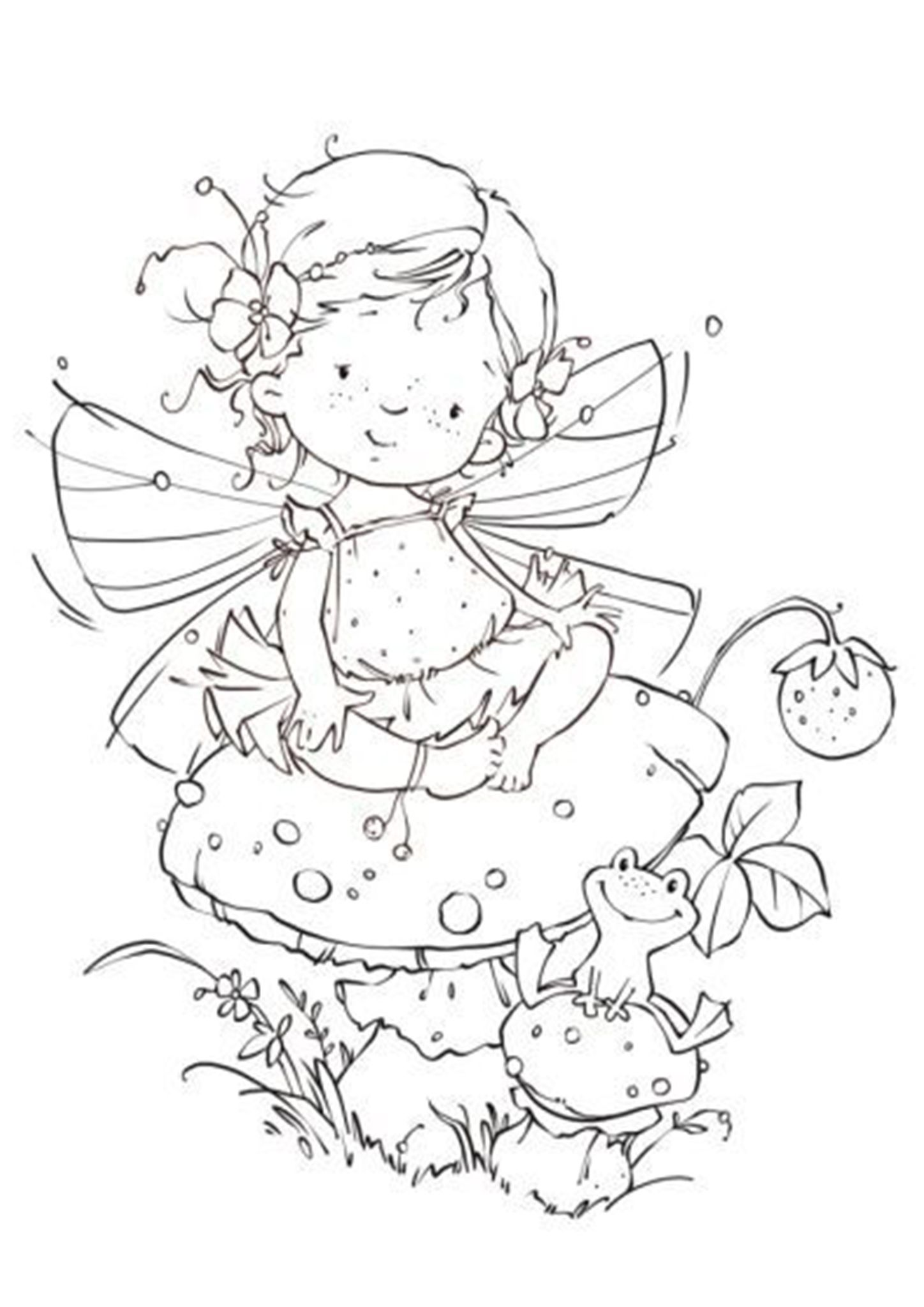 Free & Easy To Print Fairy Coloring Pages | Fairy coloring ...