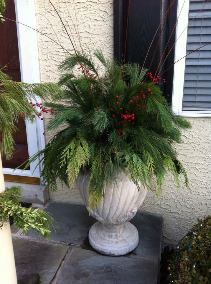 Christmas Outside Planter Ideas