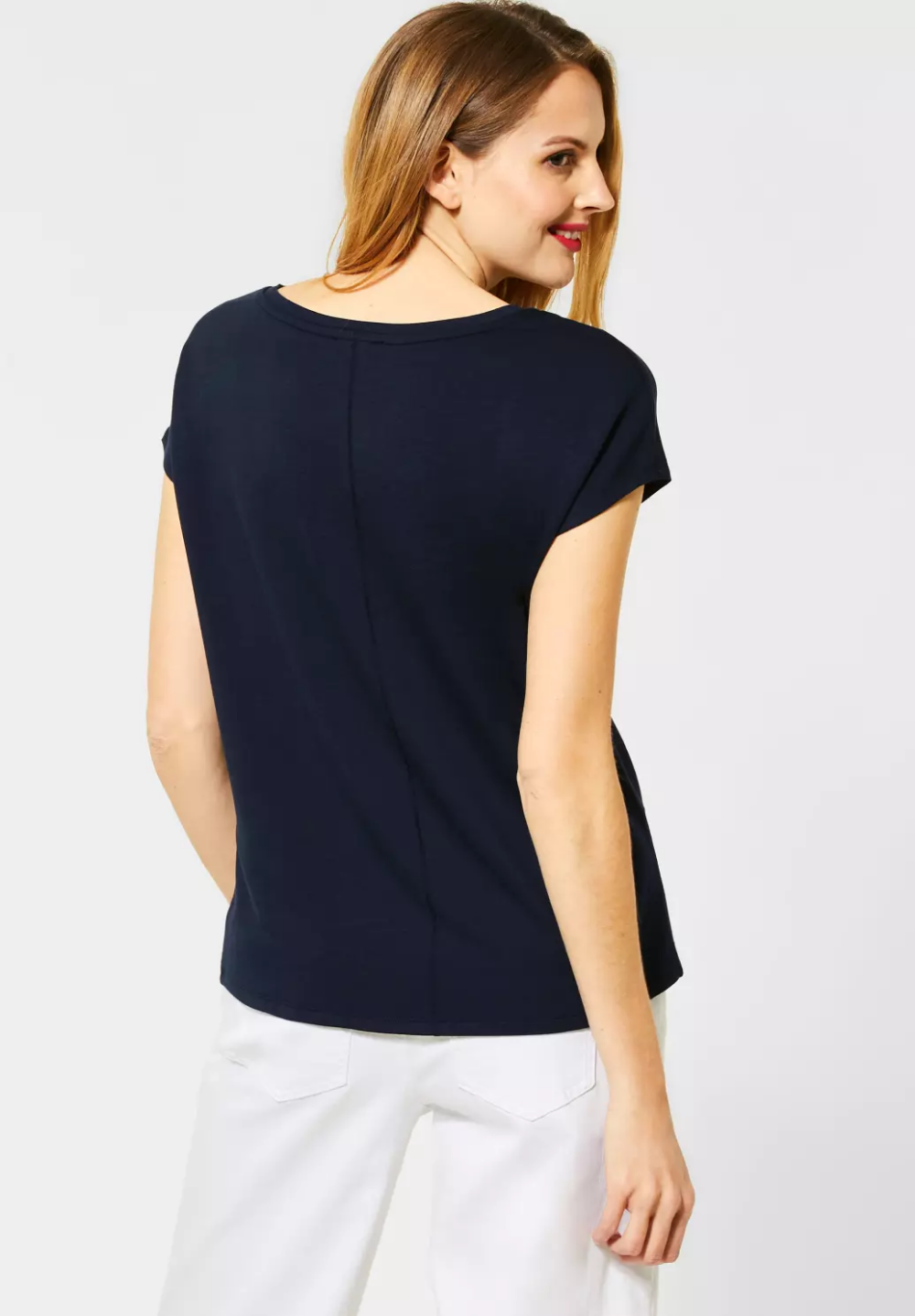 Street One T Shirt Im Basic Style Deep Blue Street One Online Shop Basic Style Open Shoulder Tops Style