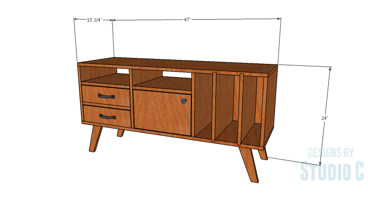Diy Plans To Build A Mid Century Modern Cabinet In 2019