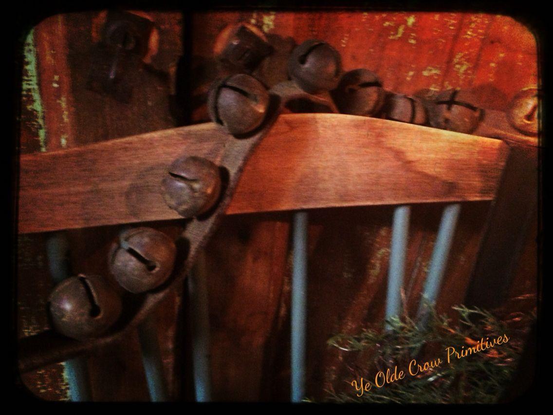 Lovely antique jingle bell strand Ye Olde Crow Primitives
